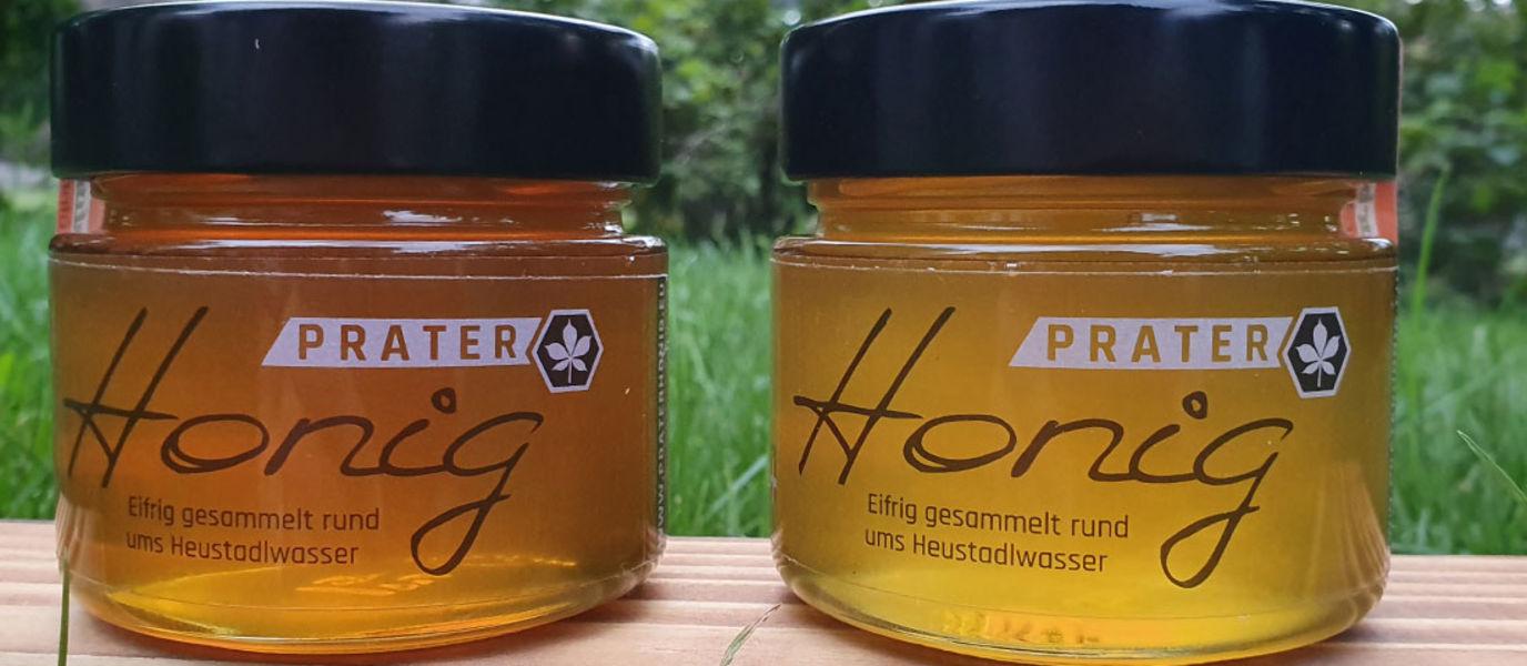 2 Honiggläser Blütenhonig und Blüten- mit Waldhonig